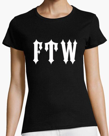 Tee-shirt shirt de fille fuck le monde