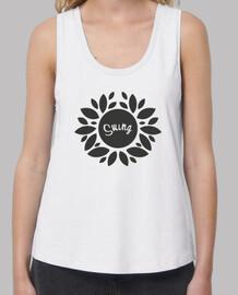 shirt de fleur fille balançoire