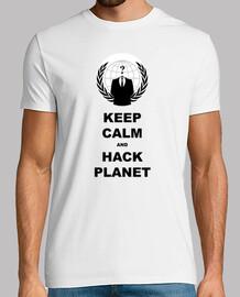 shirt de garder calm and pirater la planète