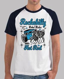 shirt de musique rock rockabilly rétro vintage des années 1950 hotrod USA rock and roll voitures amé