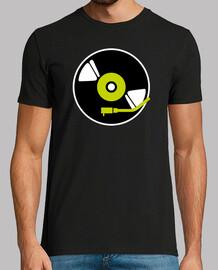 shirt de vinyle noir