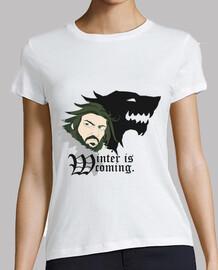 shirt femmes - l'hiver est coming