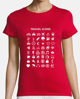 shirt girl travel icons