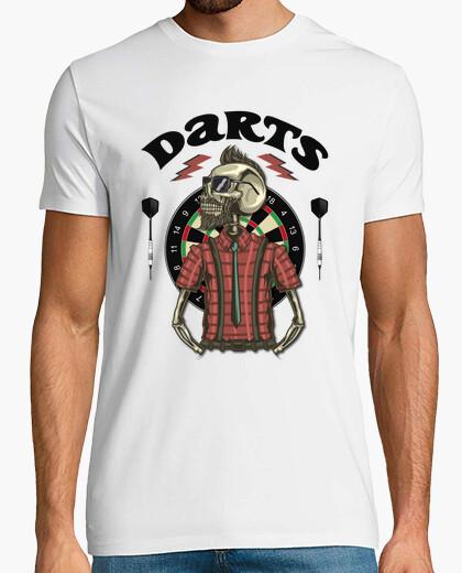 Tee-shirt shirt hipster skull darts jeux Diana