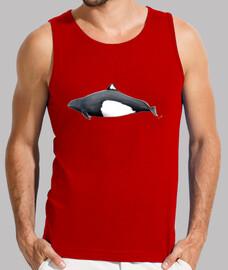 shirt homme marsouins dall, débardeur, rouge