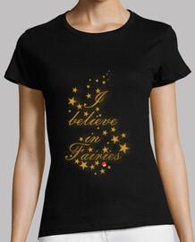 shirt i believe in fairies / fairy kokeshi