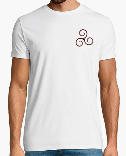 Shirt man brown triskel t-shirt