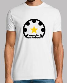 shirt manga short logo in black
