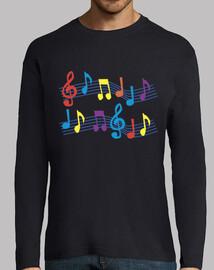 shirt noir notes de musique