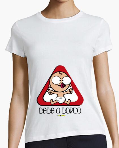 Tee-shirt shirt pour femmes et bébés enceinte à bord