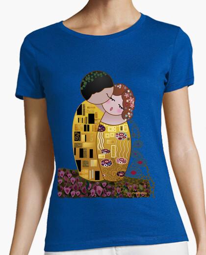 Shirt style kokeshi klimt the kiss t-shirt