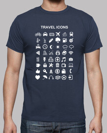 shirt travel icons