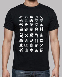 shirt with emoticons for travelers