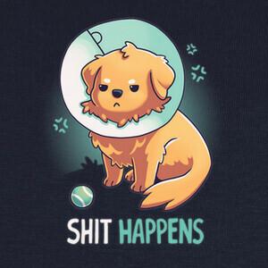 Camisetas Shit Happens Perro Cono de la Vergüenza