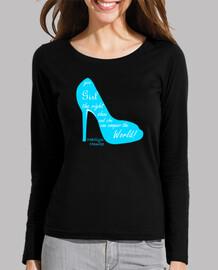 shoe marilyn monroe cyan-white letters