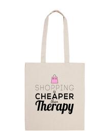shoping est moins cher que la thérapie