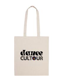 Shopper con logo nero classico danceCULTOUR