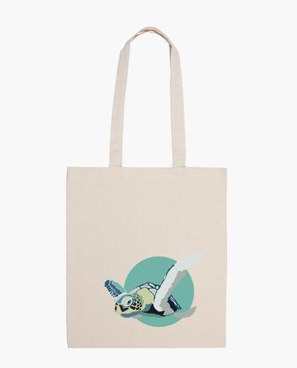 Bolsa Shopping Bag - Blue Turtle