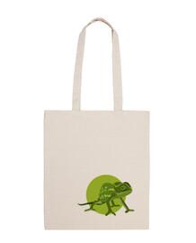 shopping bag - chameleon