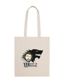 shopping bag - l'hiver est coming
