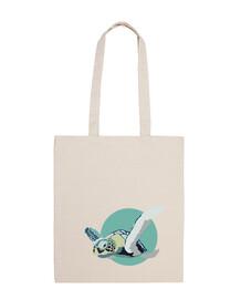 shopping bag - tortue bleue