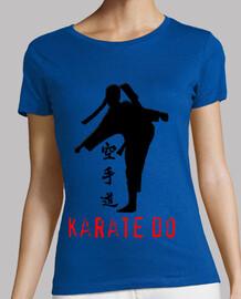 short sleeve shirt girl - karate girl