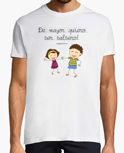 Short t-shirt i want to be salsa couple
