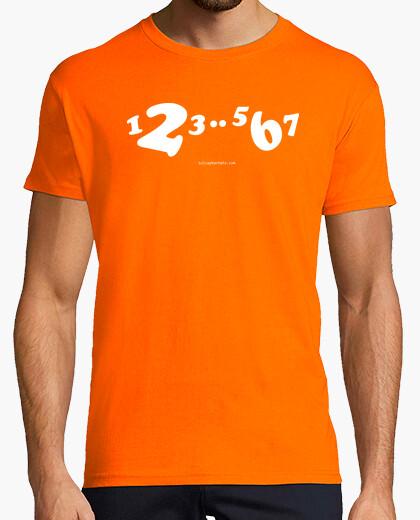 Short white shirt 1,2,3..5,6,7 t-shirt
