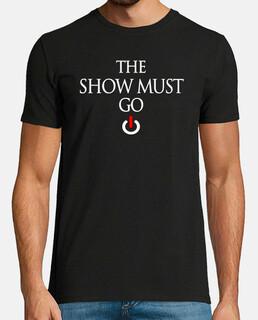 show deve andare avanti t-shirt scura uomo