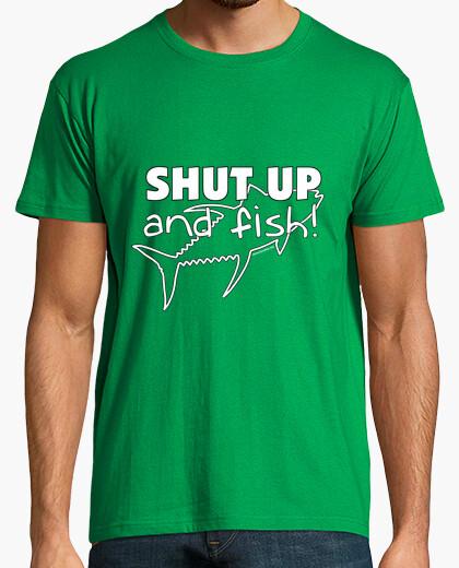 Camiseta Shut up and fish! Hombre