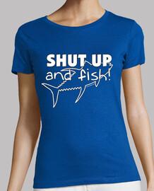 shut up and fish woman