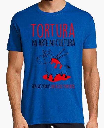 Camiseta Sí a Los Toros, No A Los Toreros Hombre (Fondo Claro)