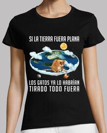 si la terre était plate les chats ...
