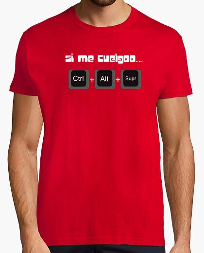 Camiseta Si me cuelgoo... humor Geek