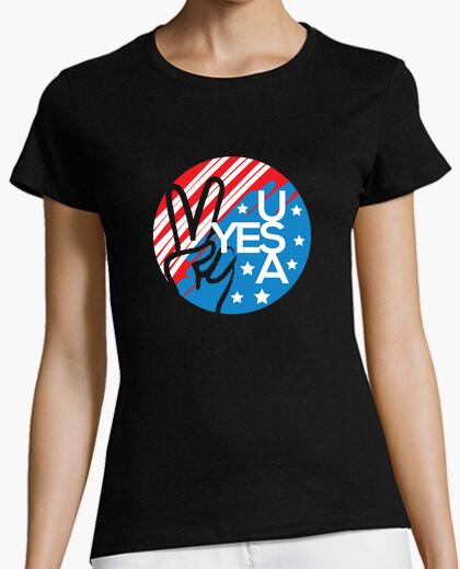 Camiseta Sí símbolo de la bandera estadounidense