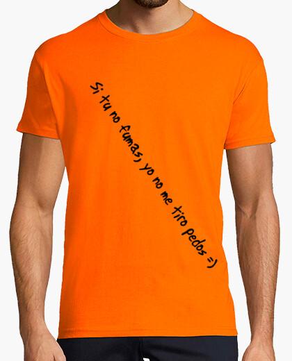 Camiseta si tu no fumas yo no me tiro pedos