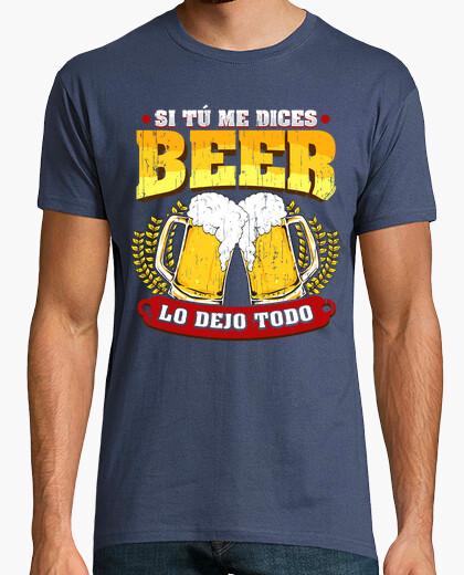 Tee-shirt Si vous as d ice bière s je laisse tout