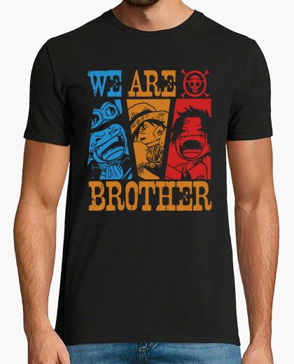 T-shirt siamo fratelli - un pezzo del anime