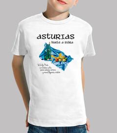 Sidra asturiana - Camiseta para niño de manga corta