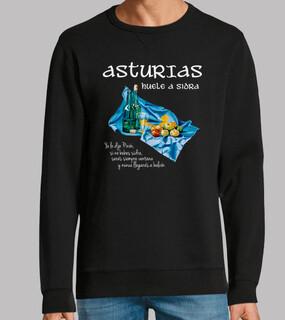 Sidra asturiana fondo oscuro - Sudadera Fruit