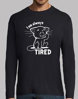 siempre estoy cansado - camisa para hombre
