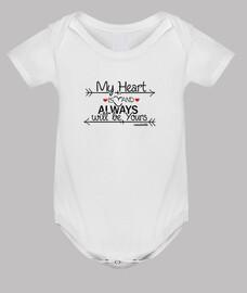 Siempre tuyo Body Bebé Manga Corta