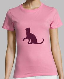 silhouette de chat rose
