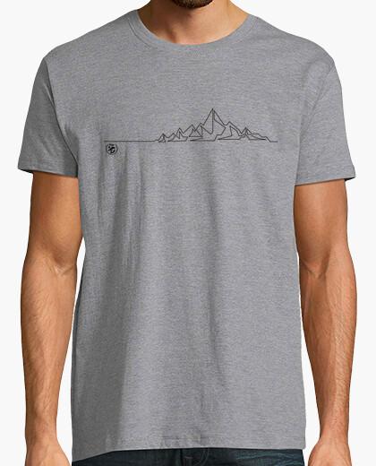 Tee-shirt silhouette de pics ukiyo_e