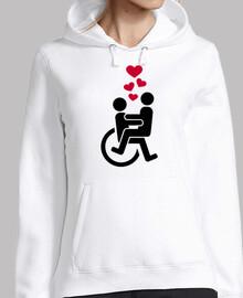 silla de ruedas amor corazones