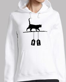 silueta de gato - etiquetas de venta de
