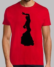 Silueta Flamenca bailarina negro