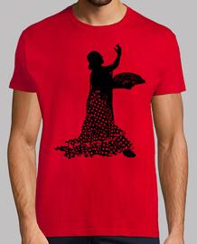 Silueta Flamenca en Negro