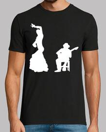 Silueta Flamenco en Blanco