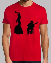 Silueta Flamenco en Negro